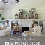 fall decorating in formal living room