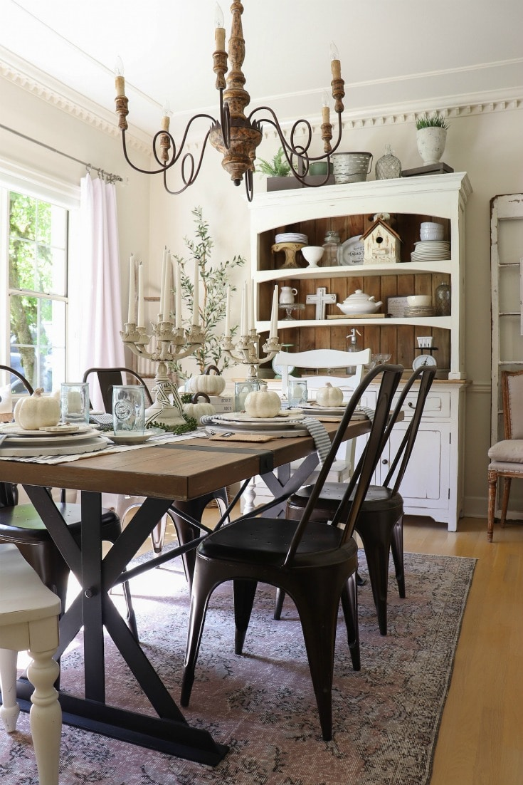 creative fall decor on a budget farmhouse fall dining room