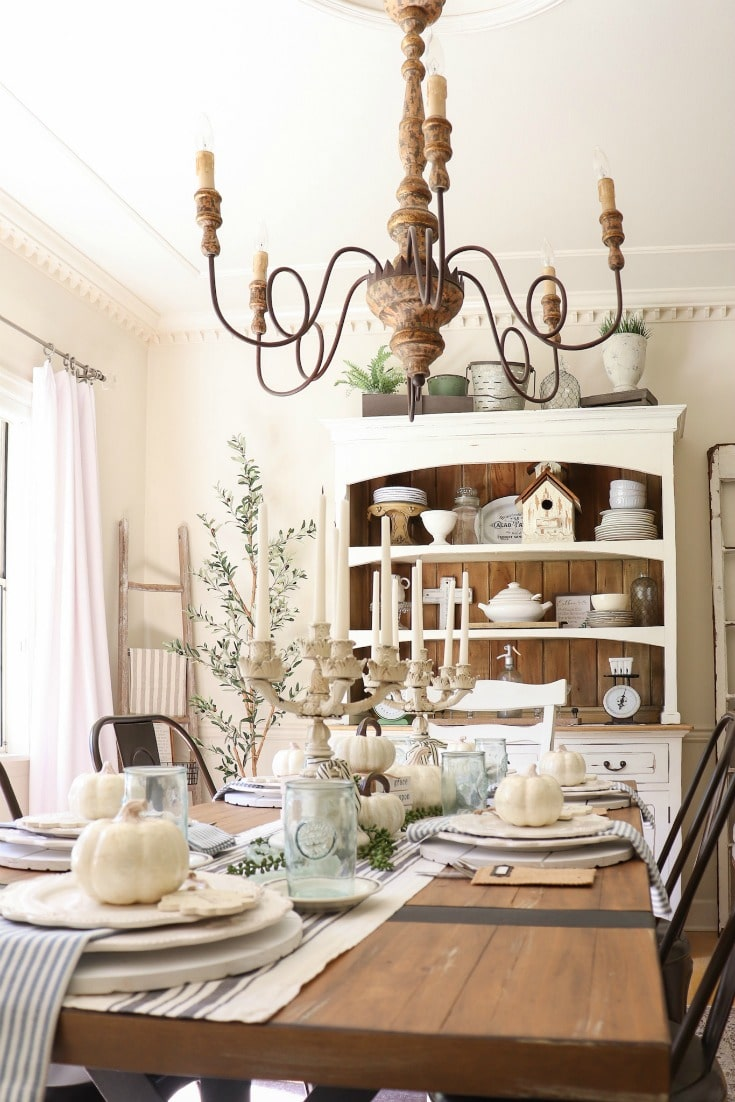 creative fall decor tablescape