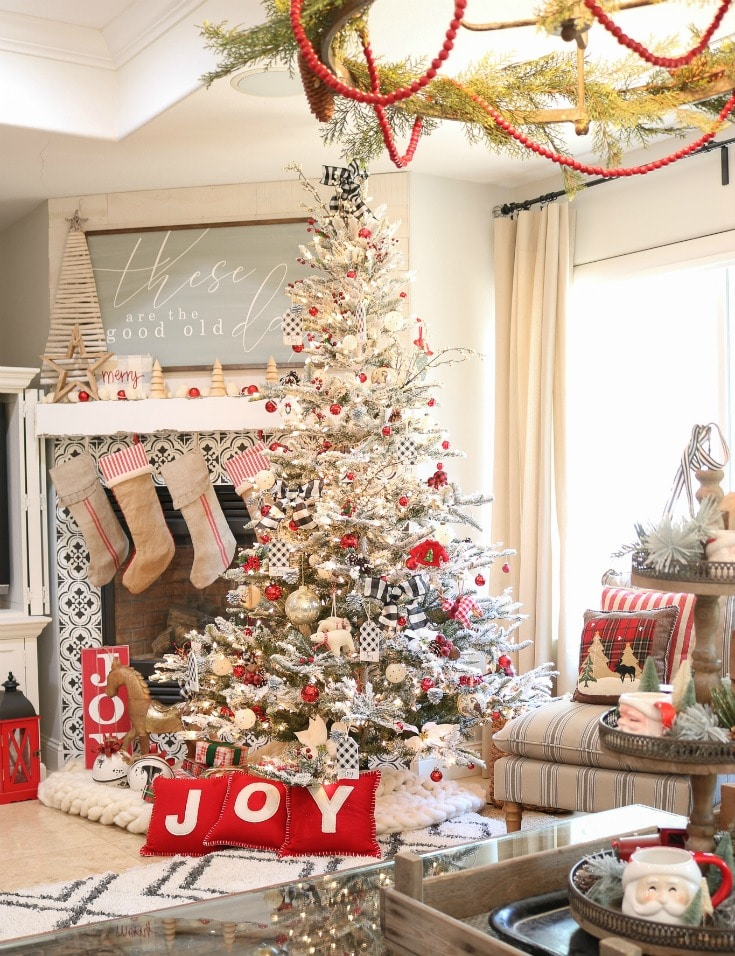 colorful classic artificial Christmas tree