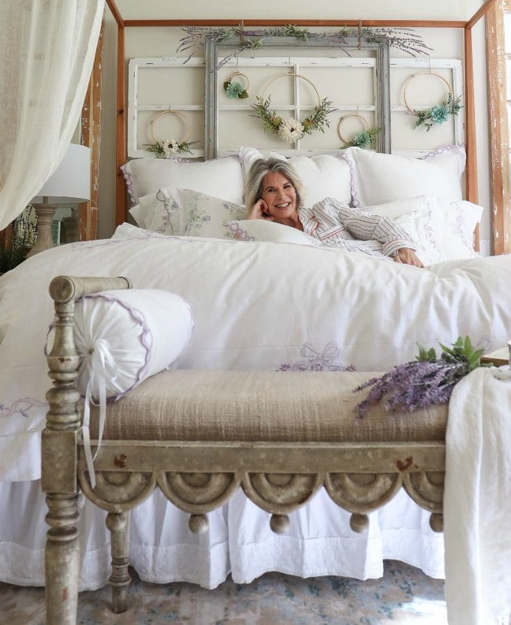 a beautiful white bed perfect for sleeping