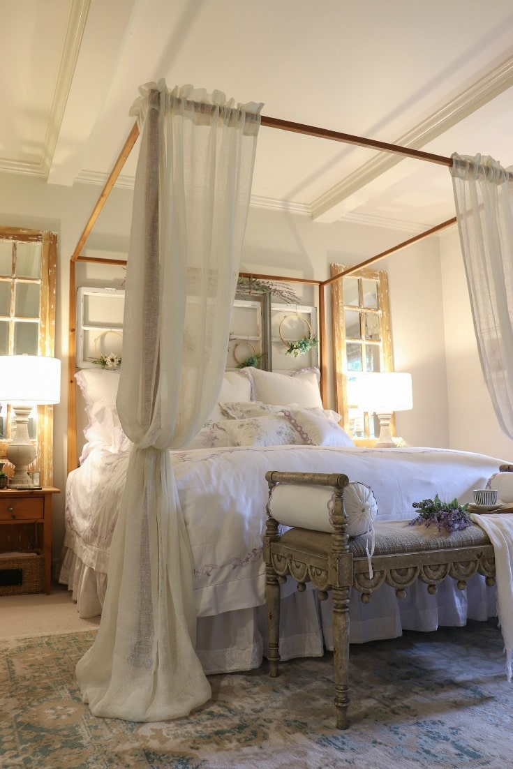 white luxurious bed for a deep sleep
