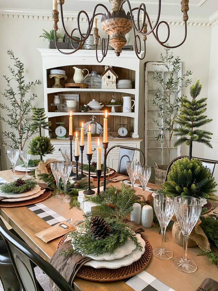 natural Christmas tablescape ideas