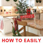 kitchen cabinet wreaths to decorate kitchen for christmas