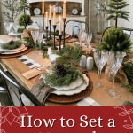 natural christmas dining room table