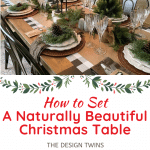 christmas dining room table rustic