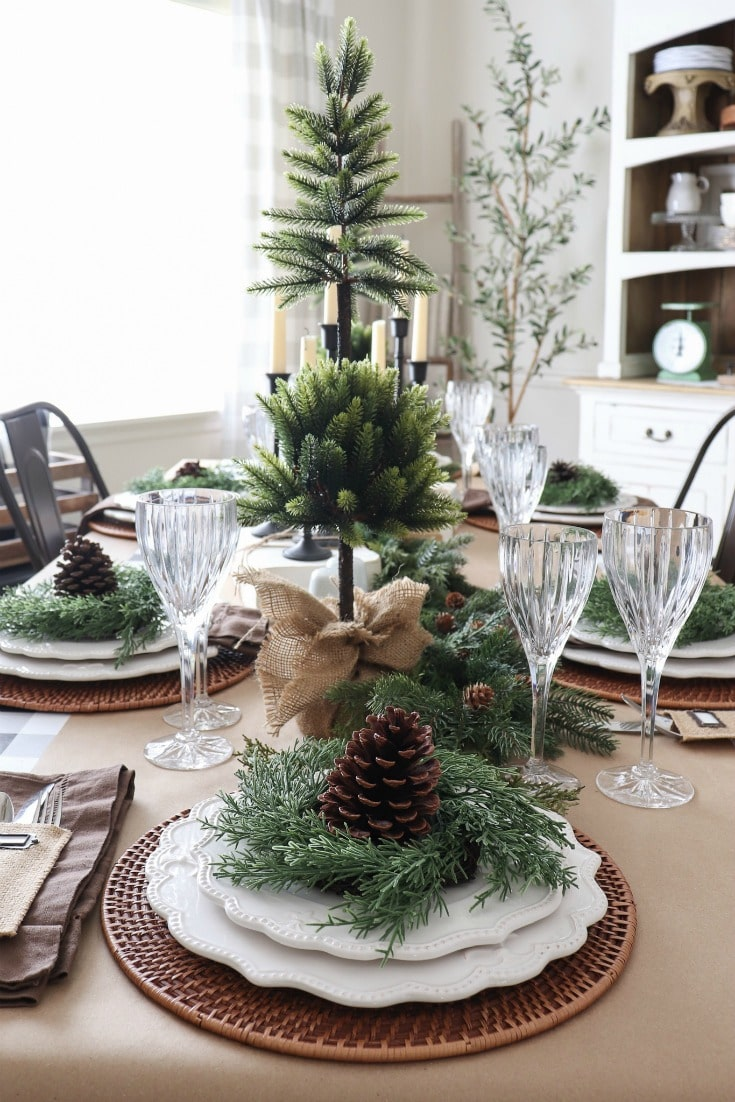 inspiring natural Christmas table ideas