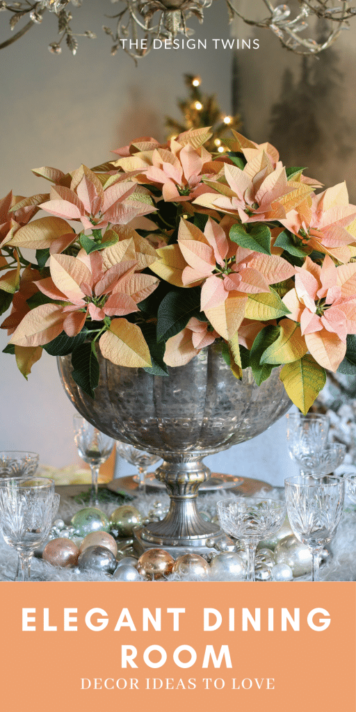 Natural elements mixed with crystal makes an elegant holiday table