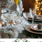 elegant dining tablescape for the holidays