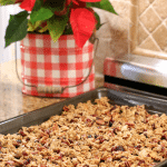 Mason jars filled with delicious homemade granola makes a personal and perfect Christmas gift