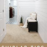 shiplap wall transformation in hallway