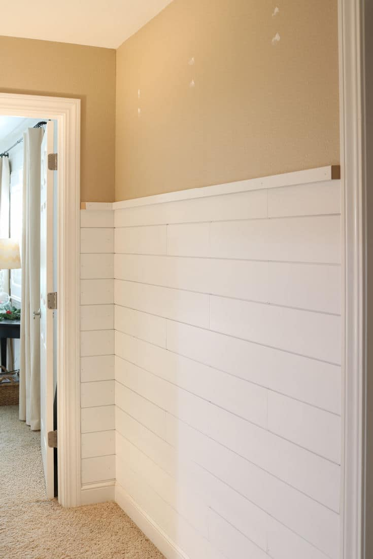 shiplap wall transformation