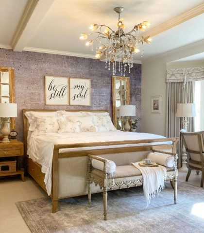 elegant master bedroom with quality furniture
