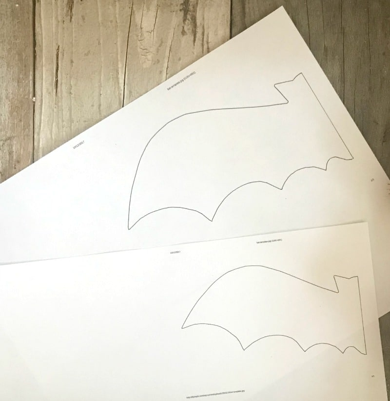 easy bat template to create your own halloween decor